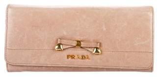 Prada Leather Vitello Shine Bow Wallet