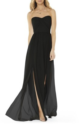 Women's Social Bridesmaids Strapless Georgette Gown $180 thestylecure.com