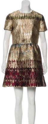 Valentino Metallic Jacquard Dress
