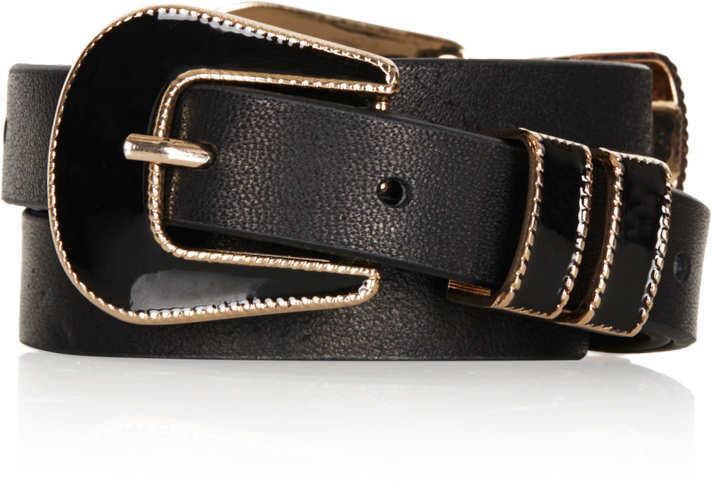 Topshop Enamel Double Buckle Belt