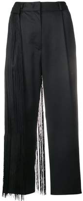 MM6 MAISON MARGIELA fringed cropped trousers