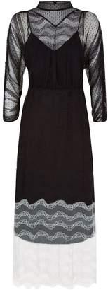 Burberry Contrast Lace Dress