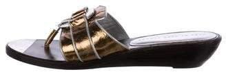 Marc by Marc Jacobs Metallic Thong Sandals