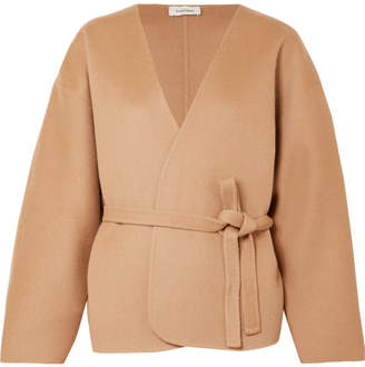 Totême Lunel Wool And Cashmere-blend Wrap Jacket - Beige