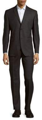 Saks Fifth Avenue Sharkskin Wool Suit