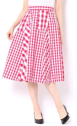And Couture (アンド クチュール) - アンドクチュール ギンガムミックスコンビスカート