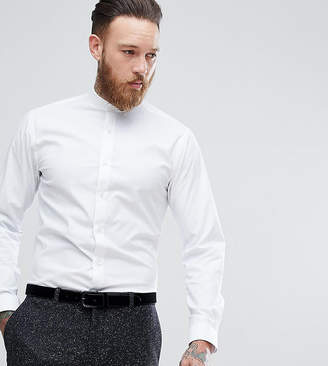 Heart & Dagger Skinny Shirt With Grandad Collar