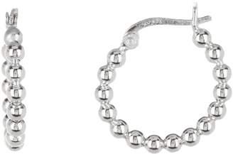 Argentovivo Sterling Silver Small Bead Hoop Earrings