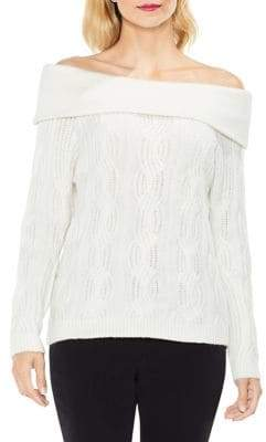 Vince Camuto Off-The-Shoulder Cable-Knit Sweater