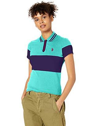 U.S. Polo Assn. Women's Essential Zip Close Pique Polo Shirt