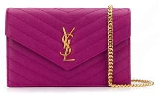Saint Laurent monogram chain wallet