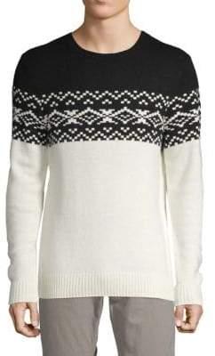 Saks Fifth Avenue Colorblock Geometric Sweater