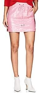 Alberta Ferretti Women's Sequin-Embellished Track Miniskirt - Pink