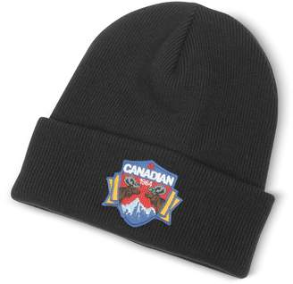 DSQUARED2 Canadian Patch Black Wool Knit Hat