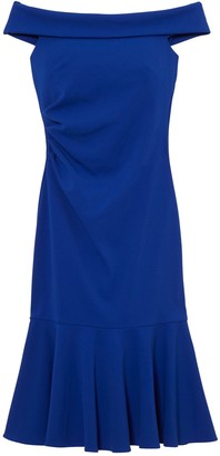 Vince Camuto Off-The-Shoulder Pleat-Detail Dress