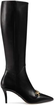 Gucci Zumi leather knee boot