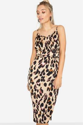 71d967c44c91 Next Womens Girls On Film Animal Print Strappy Midi Dress