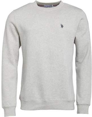 U.S. Polo Assn. Mens Cromwell Sweatshirt Light Grey Marl