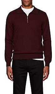 Fioroni Men's Wool-Blend Quarter-Zip Sweater - Purple