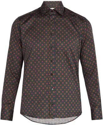 Etro Geometric-print cotton shirt