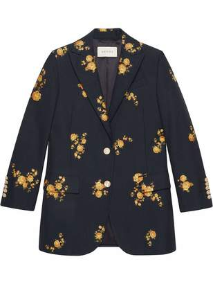Gucci Camelia Bouquet Fil CoupA Jacket
