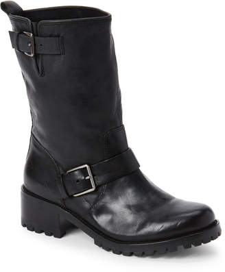 Cole Haan Black Hemlock Leather Buckle Boots