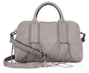 Rebecca Minkoff Catch Nubuck Satchel $325 thestylecure.com