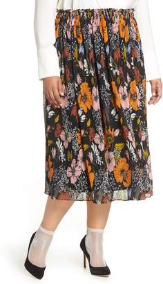 Halogen x Atlantic-Pacific Crinkle Midi Skirt