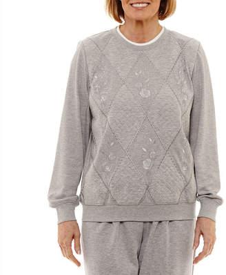 Alfred Dunner Pastel Skies Long Sleeve Sweatshirt
