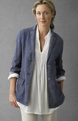 Tencel®-blend boyfriend jacket