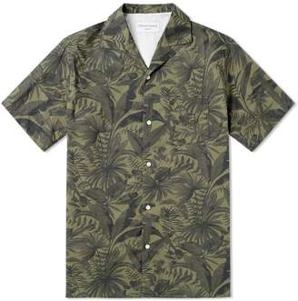 Officine Generale Short Sleeve Jungle Print Shirt