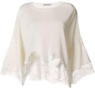 Ermanno Scervino lace hem blouse