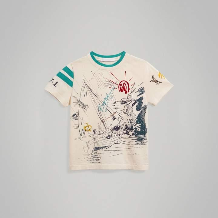 Adventure Motif Cotton T-shirt