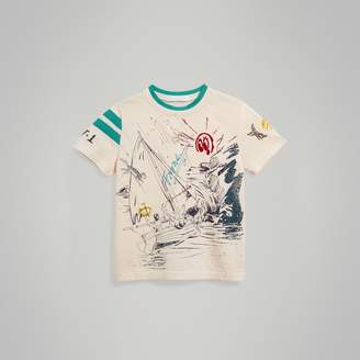 Burberry Adventure Motif Cotton T-shirt