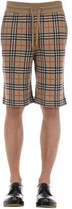Burberry Check Merino Wool Knit Shorts