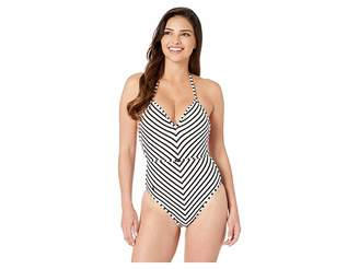 3e70d0a25fec5 Polo Ralph Lauren Pique Stripe Belted Halter One-Piece