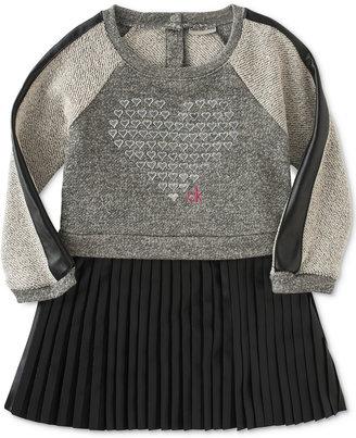 Calvin Klein Baby Girls' Pleated-Skirt Heart Dress $40 thestylecure.com