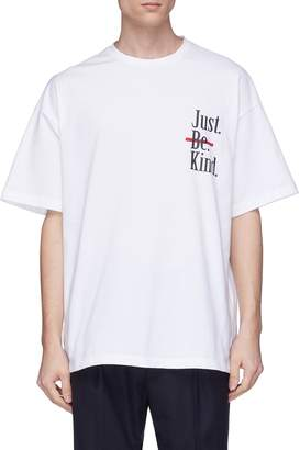 Wooyoungmi 'Just Be Kind' slogan lips print T-shirt