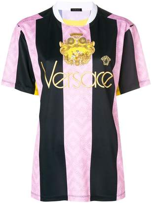 Versace embroidered logo football T-shirt