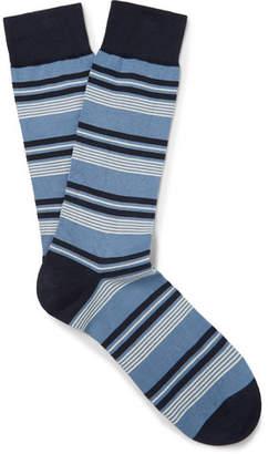 Pantherella Striped Sea Island Cotton-Blend Socks