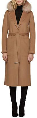 Soia & Kyo Ivonne Fox Fur-Trimmed Wool-Blend Coat