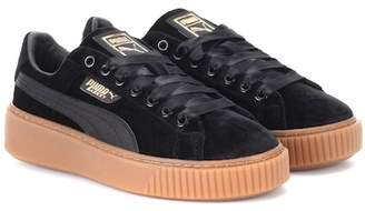 Puma Basket Platform velvet sneakers