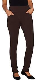 Denim & Co. Active Petite Pull-On Slim Leg KnitPants