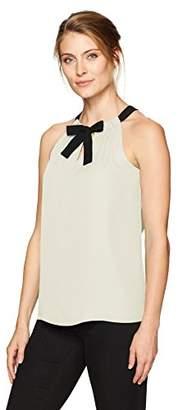 Ellen Tracy Women's Georgette Tie Neck Halter