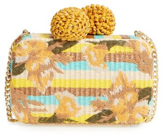 Sam Edelman Milly Straw Minaudiere - Yellow $128 thestylecure.com