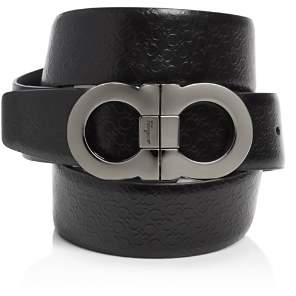 Salvatore Ferragamo Micro Gancini Reversible Belt with Double Gancini Buckle