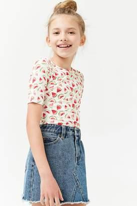 Forever 21 Girls Watermelon Print Bodysuit (Kids)