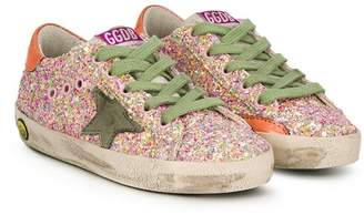 Golden Goose Kids SuperStar glitter sneakers