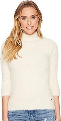 Volcom Junior's Bunney Riot Fuzzy Mock Neck Pullover Sweater