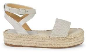 Splendid Seward Leather Flatform Espadrilles